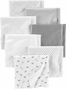 03- Simple Joys by Carter's Baby 7-Pack Flannel Receiving Blankets