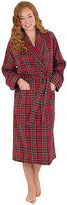 #04- PajamaGram Cotton Flannel Robe Women's