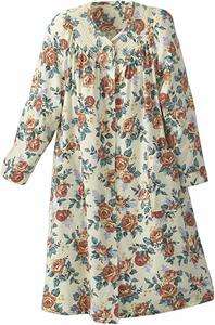 #05- National Floral Flannel Duster - Misses, Women's