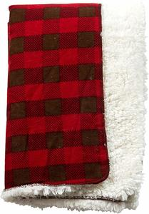 05- Trend Lab Northwoods Plush Receiving Blanket