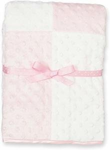 07- Spasilk Minky Raised Dot Baby Blanket