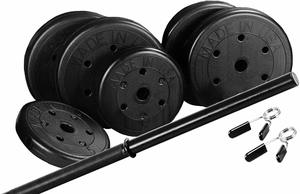 #1 US Weight Duracast 55 lb. Barbell Weight Set with Two 5 lb. Weights