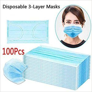 1. 100Pcs Disposable Anti Dust Disposable Breathable Earloop Face Mouth Mask