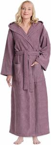 #1. Arus Women's Hooded Classic Bathrobe