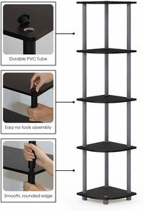 1. Furinno Turn-N-Tube 5 Tier Corner Shelf
