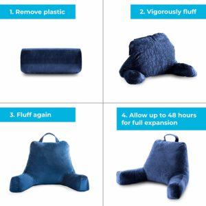 1. Linenspa Shredded Foam Reading Pillow
