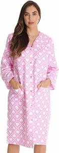 #10- Dreamcrest Women's Snap-Front Housecoat