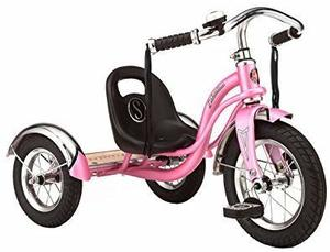 #10 - Schwinn 12 Red Roadster Trike Pink