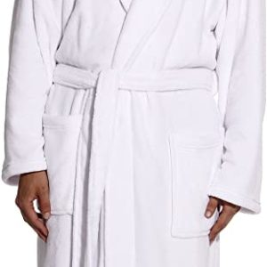 #10- followme Ultra Soft Plush Robe for Men with Shawl Collar