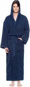 #10.  Arus Men's Hooded Classic Bathrobe  with Full Length Options