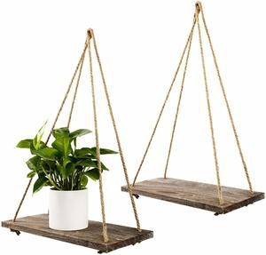 10. TIMEYARD Decorative Wall Hanging Shelf