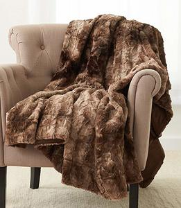 #12- Pinzon Faux Fur Throw Soft Blanket