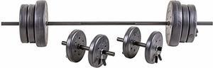 #2- US Weight 105 lb. Duracast Barbell Weight Set