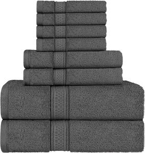 #2- Utopia Towels Towel Set Highly Absorbent Towels for Bathroom