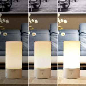 2. AUKEY Table Lamp, Touch Sensor Bedside Lamps