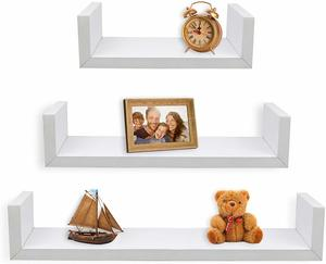 2. Greenco Set of 3 Floating U Shelves