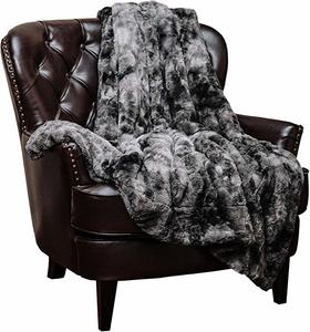 #3- Chanasya Fuzzy Faux Fur Throw Soft Blanket
