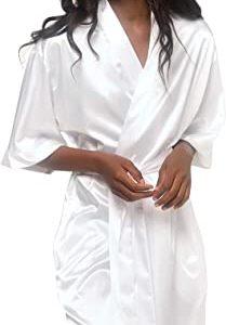 #3- Turquaz Linen Satin Kimono Bridesmaids Robe
