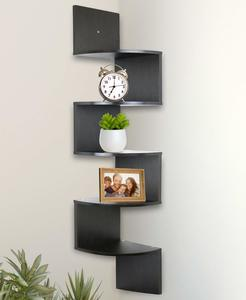 3. Greenco 5 Tier Wall Mount Corner Shelves