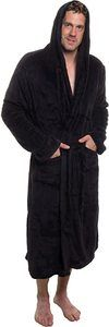 #3. Ross Michaels Men's Hooded  Kimono Bathrobe for Men