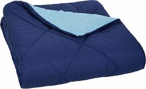 #4- AmazonBasics Reversible Microfiber Comforter Soft Blanket