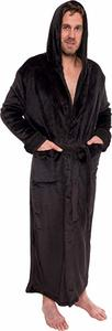 #4.  Ross Michaels Mens Hooded Long Robe