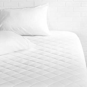 #5- AmazonBasics Hypoallergenic Quilted Mattress Topper Pad Cover