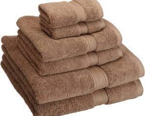 #5- Superior 900GSM 6 PC LA Towel Set, 6PC, Latte