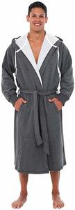 #5. Alexander Del Rossa Men's Cotton Robe with Hood