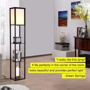 5. Brightech Maxwell - Modern LED Shelf Floor Lamp