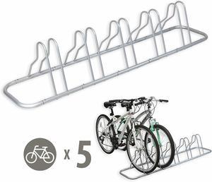 5. Simple Houseware Bicycle Floor Parking