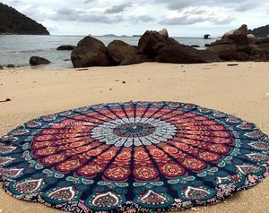 5. raajsee Round Beach Tapestry
