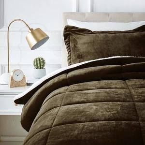 #6- AmazonBasics Ultra-Soft Micromink Sherpa Comforter Bed Set