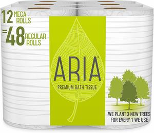#6. Aria Premium, Earth Friendly Toilet Paper
