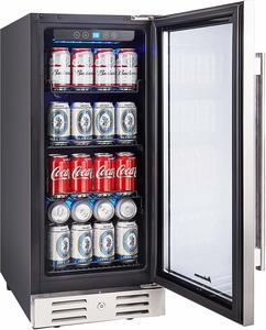 6. Kalamera Freestanding Touch Control Beverage Fridge
