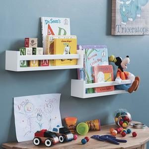 6. Wallniture Utah Nursery Room Wood Floating Wall Shelves