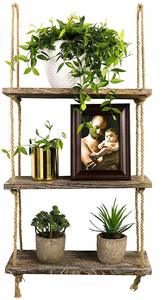 7. TIMEYARD Decorative Wall Hanging Shelf