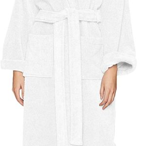 #8- Pinzon Terry Bathrobe 100% Cotton, White