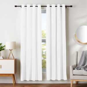 8. AmazonBasics Room Darkening Blackout Window Curtains