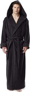 #8. Arus Men's Hood'n Turkish Cotton Bathrobe