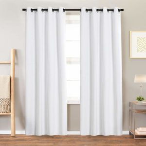 9. Blackout Curtain White Bedroom