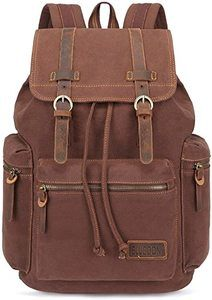 1. BLUBOON Canvas Vintage Backpack
