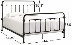 12. Tribecca Home Antique Victorian Iron Metal Bed