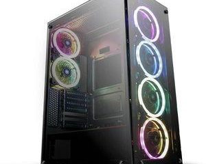 14. darkFlash Phantom Black ATX Mid-Tower Computer Gaming Case
