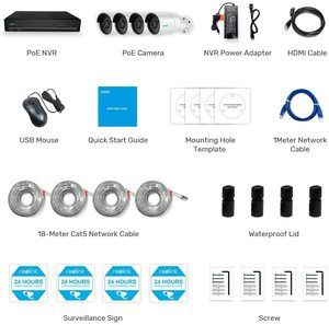 #2 Reolink 4MP 8CH PoE Surveillance System 1440P PoE IP Cameras