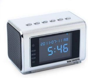 #2 TOP Secret Spy Camera Mini Clock Radio Hidden DVR