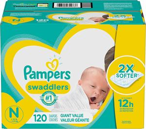 2. Pampers Swaddlers Disposable Baby Diapers
