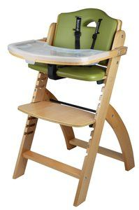3. Abiie Beyond Wooden High Chair