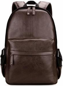 3. Kenox Vintage PU Leather Backpack