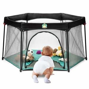 3. Portable Playard Play Pen for Infants and Babies